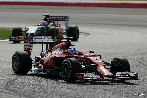 Fernando Alonso überholte Nico Hülkenberg in der Schlussphase des Rennens