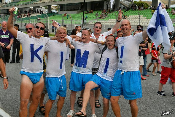 Kimi Räikkönens Fans waren auch in Sepang vor Ort