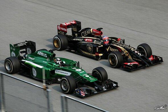 Statt mit Ferrari wird sich Lotus diesmal wohl mit Caterham duellieren