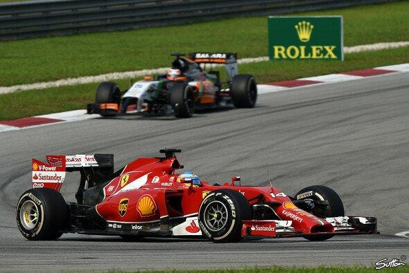 Fernando Alonso sicherte sich Rang vier vor Nico Hülkenberg