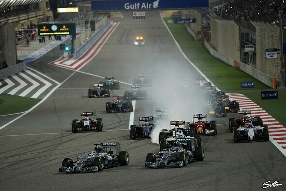 Der Start zum Bahrain Grand Prix - Foto: Sutton