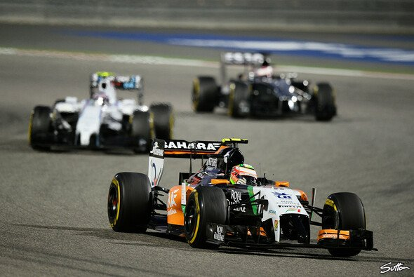 Perez holt das zweite F1-Podium f�r Force India nach 2009 - Foto: Sutton