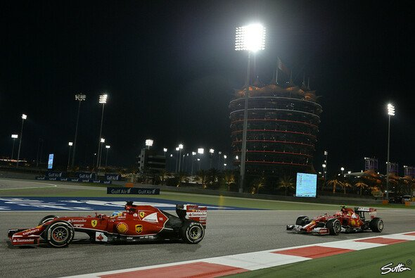 Kimi Räikkönen und Fernando Alonso hatten es in Bahrain nicht einfach