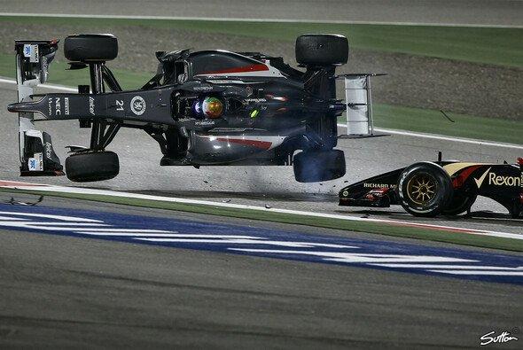 Der wohl spektakulärste Unfall in dieser Saison: Maldonado nimmt Gutierrez auf die Hörner