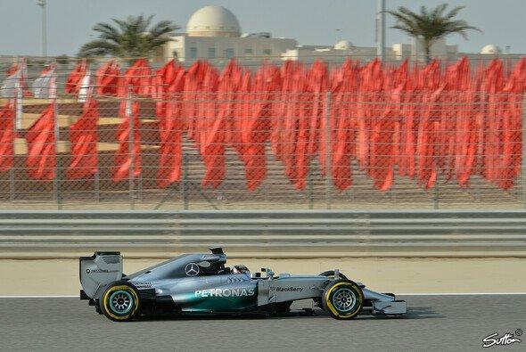 Mercedes war auch am zweiten Tag der Tests in Bahrain das Maß aller Dinge
