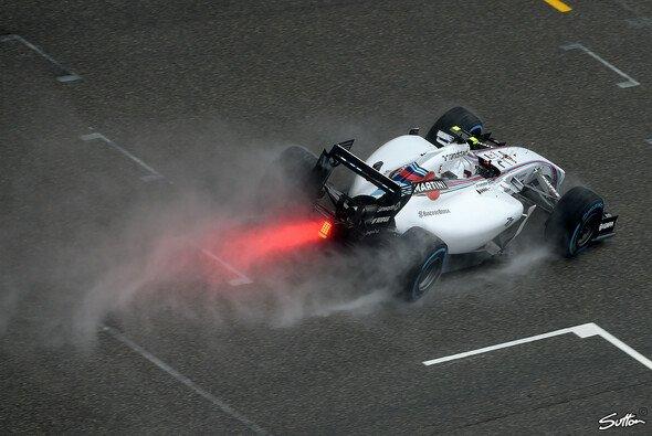 Regen schmeckt dem Williams eigentlich nicht