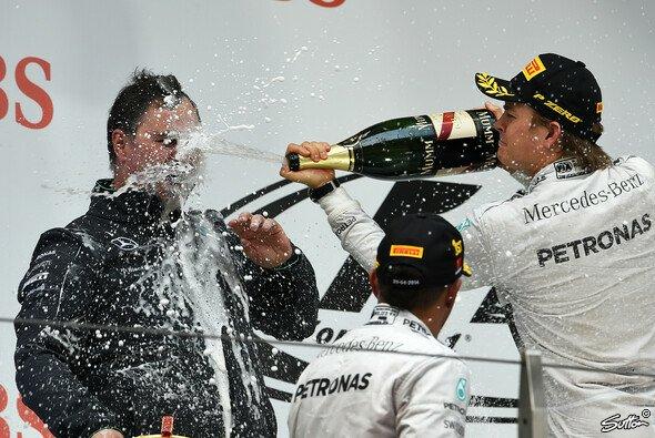 Am Ende konnte sich Rosberg doch über Platz zwei freuen