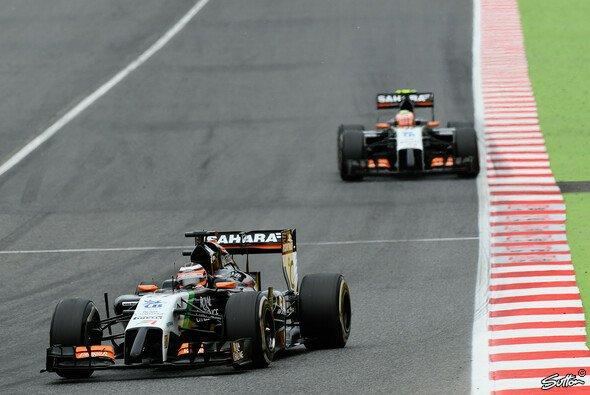 In Spanien musste sich Nico Hülkenberg Teamkollege Sergio Perez geschlagen geben
