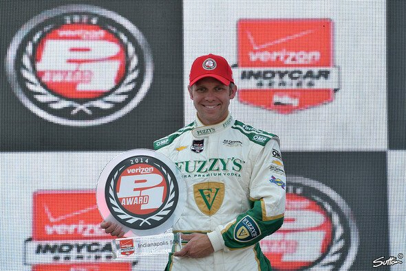 Ed Carpenter sicherte sich die Pole Position - Foto: Sutton