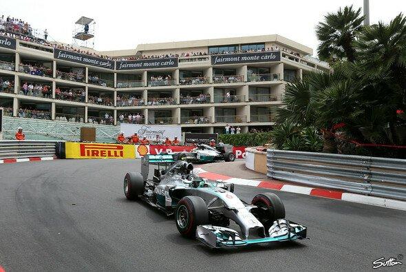 Nico Rosberg und Lewis Hamilton kämpften um den Monaco-Sieg
