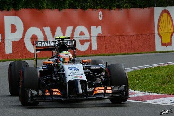 Sergio Perez profitierte von seiner Mercedes-Power