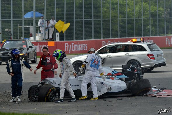 Felipe Massa konnte dem Wrack unverletzt entsteigen