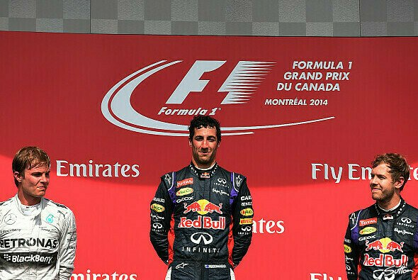 Das Podium in Montreal