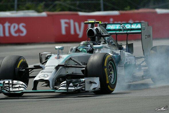 Trotz widrigsten Umständen fuhr Rosberg auf Platz zwei