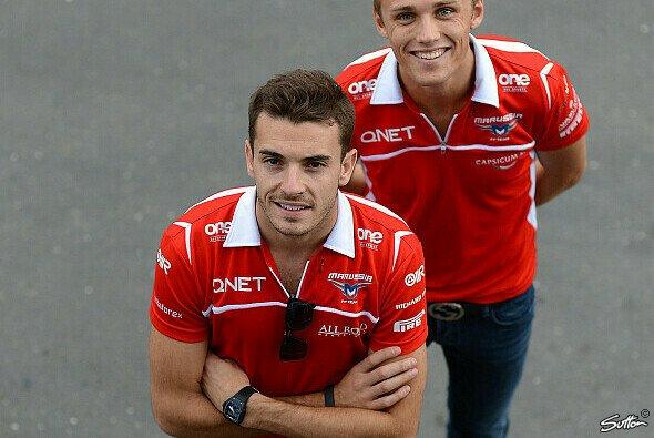 Max Chilton und Jules Bianchi fuhren von 2013 bis 2014 zusammen für Marussia - Foto: Sutton