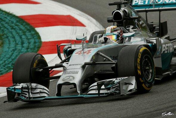 Lewis Hamilton fuhr der Konkurrenz davon