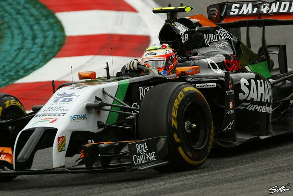 Perez führte in Österreich das Rennen an - Foto: Sutton