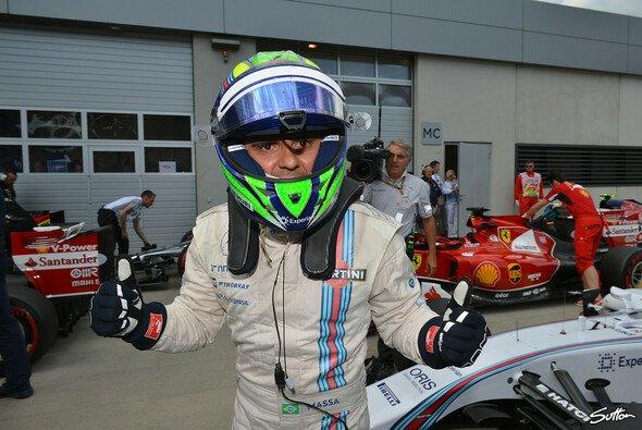 Nach seiner Überraschungs-Pole hatte Felipe Massa einiges zu feiern