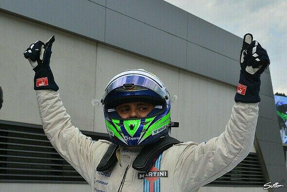 Felipe Massa feierte seine Pole Position überschwänglich