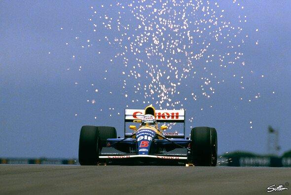 Funken sehen auch in der Formel 1 gut aus