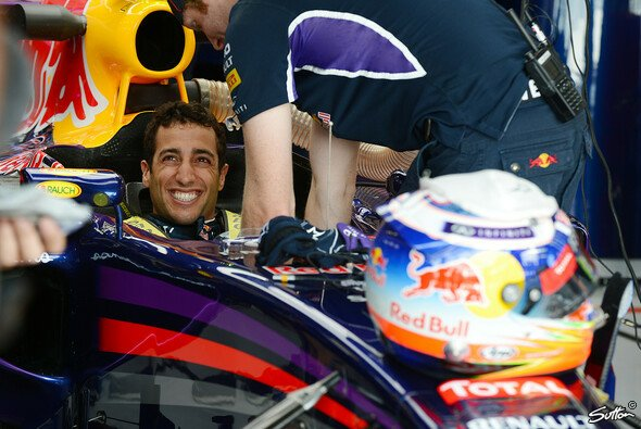 Let's dance! Daniel Ricciardo hat Spaß in der Box