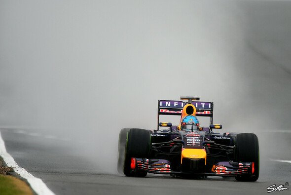 Sebastian Vettel konnte kaum glauben, dass die Strecke an so vielen Stellen trocken sein würde