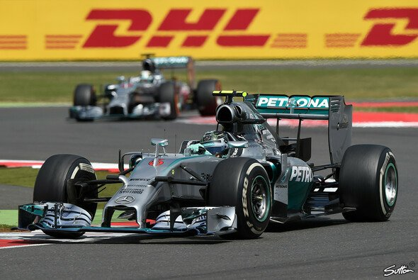 Nico Rosberg musste seinen Mercedes in Runde 29 abstellen