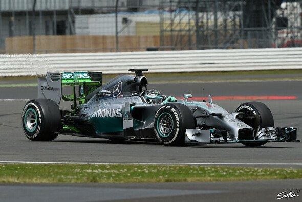 Nico Rosberg freute sich über einen produktiven Testtag