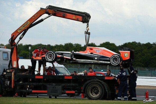 Jules Bianchis Marussia fing am Dienstag Feuer