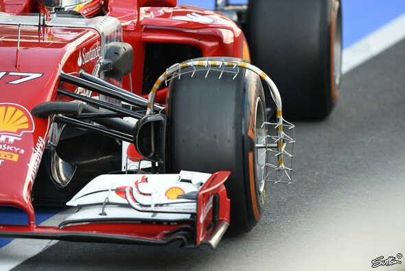 Neues Messinstrument am Ferrari F14 T - Foto: Sutton