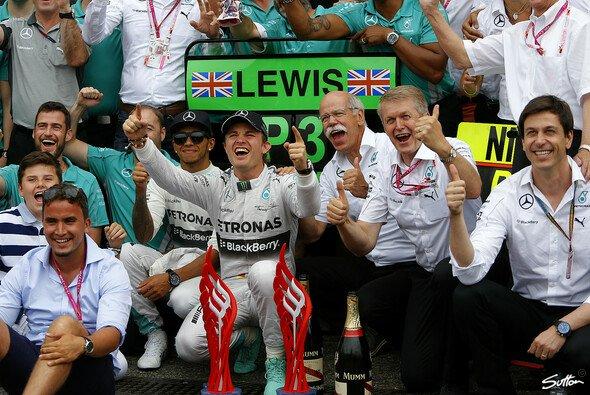 Das Mercedes-Team bejubelte den Heimsieg in Hockenheim