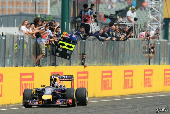 Daniel Ricciardo gewann den Großen Preis von Ungarn 2014 - Foto: Sutton
