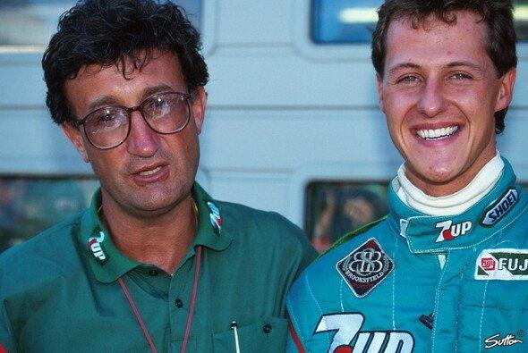 Eddie Jordan hatte nicht lange seine Freude am neuen Formel-1-Talent Michael Schumacher - Foto: Sutton