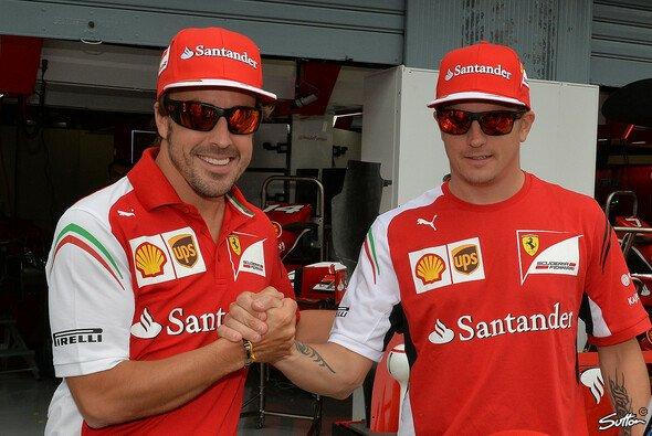 Kimi Räikkönen und Fernando Alonso - nie beste Freunde, aber im Sportsgeist vereint - Foto: Sutton