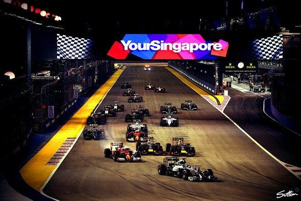 Das Nachtrennen in Singapur ist jedes Jahr erneut ein Highlight - Foto: Sutton