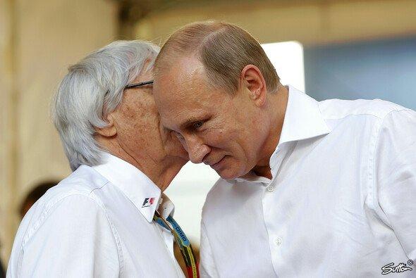 Vertrautes Verhältnis zwischen Ecclestone und Putin - Foto: Sutton