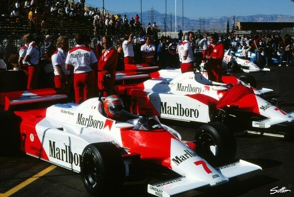 Von 1981 bis 2016 trugen die Formel-1-Boliden von McLaren die Typenbezeichnung MP4 - Foto: Sutton