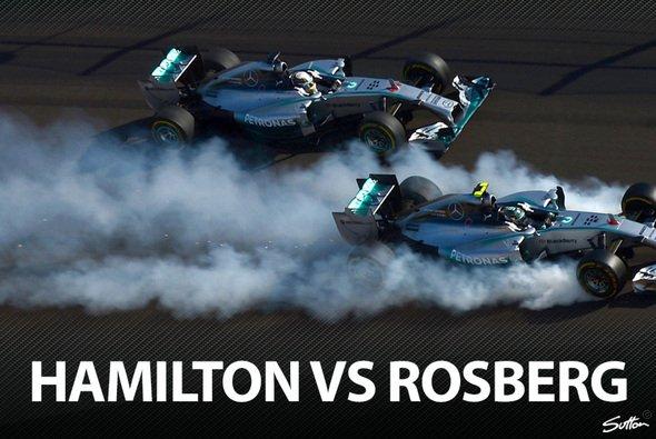 Hamilton und Rosberg befinden sich im Dauerclinch - Foto: Sutton