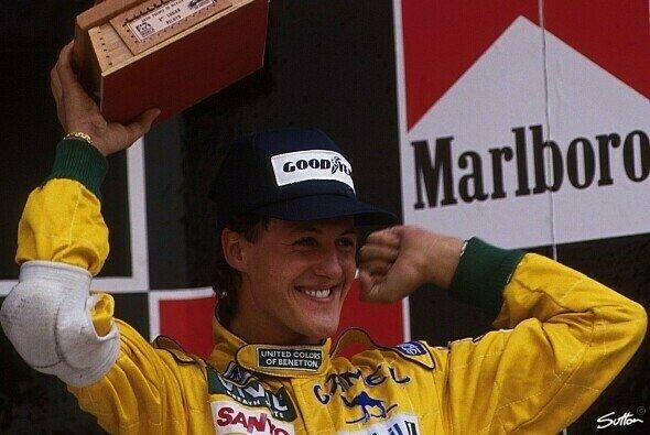 Der Youngster Michael Schumacher erlebte beim Belgien-GP 1992 den großen Durchbruch - Foto: Sutton