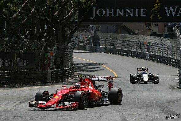 Kein Grip: Kimi Räikkönen rutschte durch das Monaco-Qualifying - Foto: Sutton