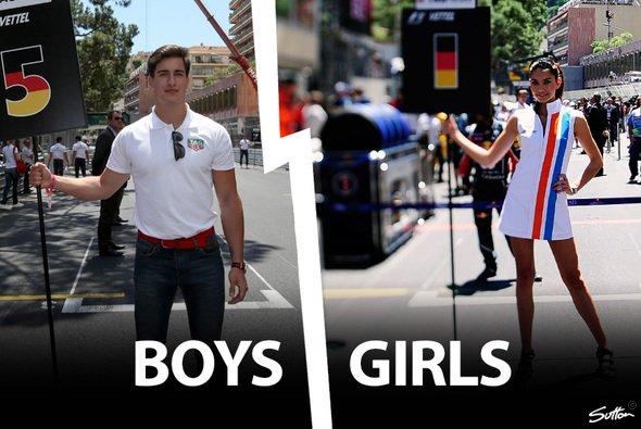 Mädels oder Jungs - das war eine der großen Fragen beim Monaco Grand Prix - Foto: Sutton