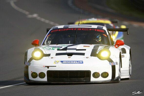 Richard Lietz musste seinen 911 RSR drei Stunden vor Rennende abstellen - Foto: Sutton