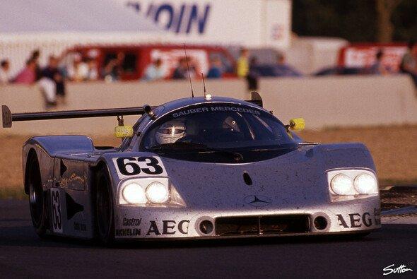 Das war noch Mythos: Reuter siegt 1989 in Le Mans auf einem Sauber Mercedes - Foto: Sutton
