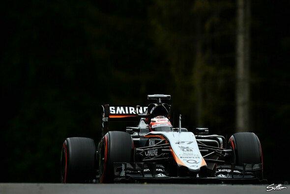 Ein Sommermärchen: Nico Hülkenberg stellt seinen Force India auf Startplatz fünf - Foto: Sutton