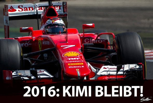 Kimi Räikkönen bleibt 2016 Fahrer bei der Scuderia Ferrari - Foto: Sutton