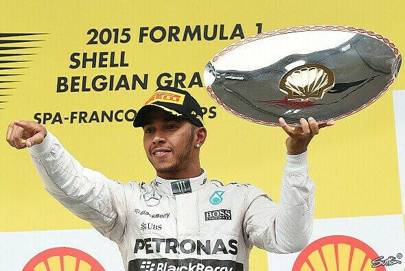 In Belgien feierte Lewis Hamilton seinen 80. Auftritt am Podest - Foto: Sutton