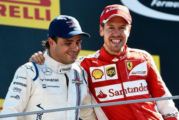 Sebastian Vettel und Felipe Massa verstehen sich eigentlich - Foto: Sutton