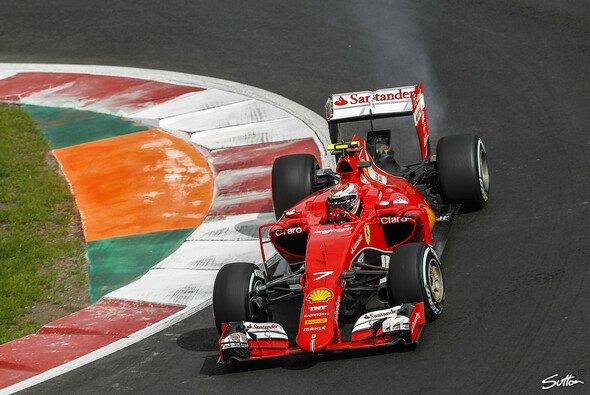 Ein Defekt am Ferrari von Kimi Räikkönen im Training sorgt für Probleme bei Ferrari - Foto: Sutton