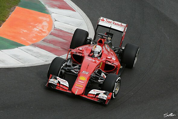 Sebastian Vettel startet den Mexiko GP von Platz drei - Foto: Sutton