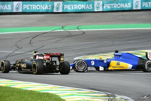Marcus Ericsson fiel in Sao Paulo Pastor Maldonado zum Opfer - Foto: Sutton
